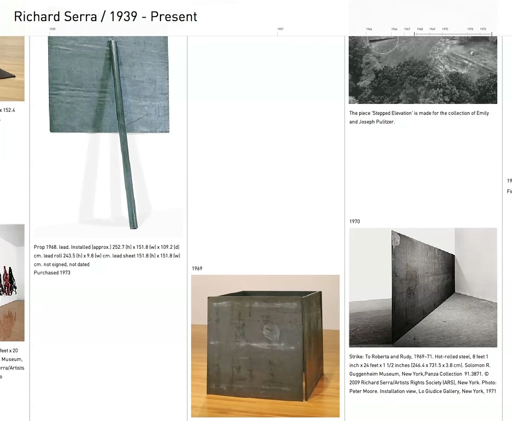 richardserra-timeline